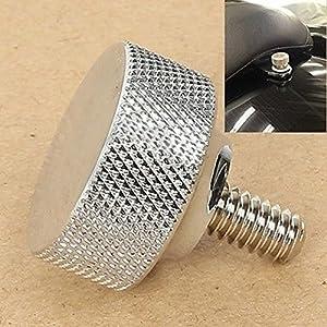 1/4-20 Thread Chrome Billet Aluminum Seat Bolt For Harley Davidson Models 96-17