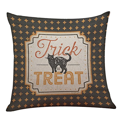 UONQD Halloween Pillow Box Linen Sofa Funny Ghost Pad Cushions Home Decoration(45cm45cm/18