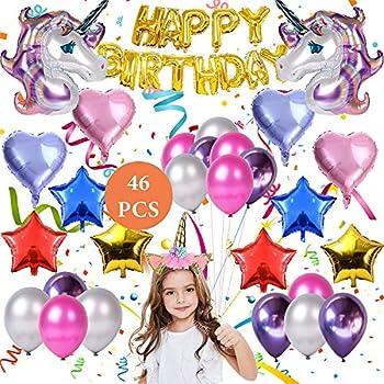Amazon com: Unicorn Balloons Birthday Party Decorations