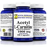 Best Acetyl L-carnitine Pures - Acetyl L-Carnitine: 1000 mg 200 Capsules (1 Bottle) Review