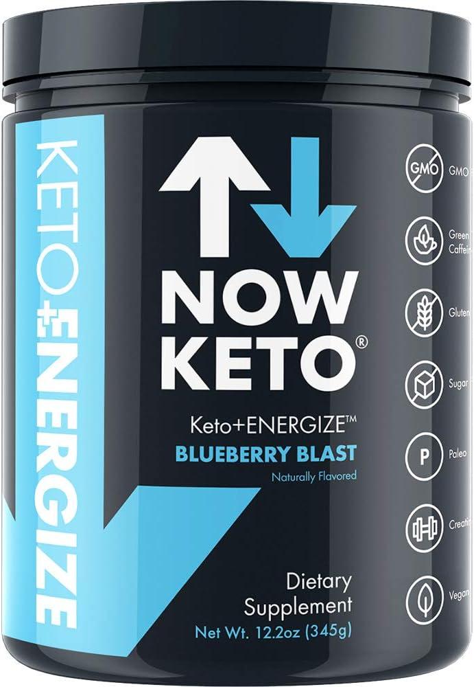 NOW KETO® Keto Energy Ketones w/Creatine, BHB Ketones