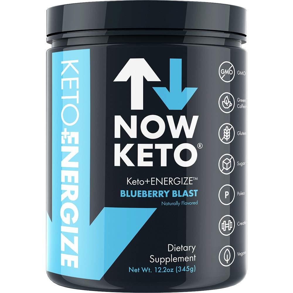 NOW KETO® Keto Energy Ketones w/Creatine, BHB Ketones -Beta Hydroxybutrate Salts - Keto Diet Friendly - Elevate Ketones & Increase Ketosis, for Ketogenic Diet by NOW KETO