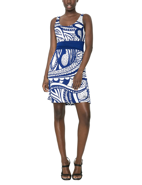 Desigual Damen A-Linie Kleid, mit Print