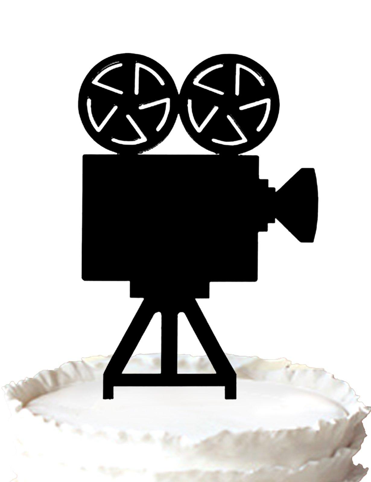 Kaishihui movie camera acrylic cake topper for decoration
