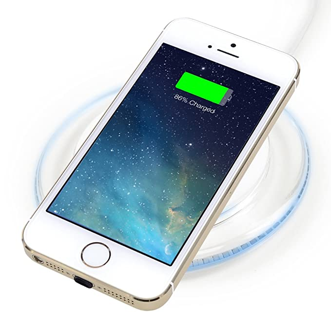 premium selection ec5f5 acbab BEZALEL iPhone 5 Wireless Charger Kit = Qi Wireless Charging Pad + Receiver  Patch Module for iPhone SE/5C/5S - White