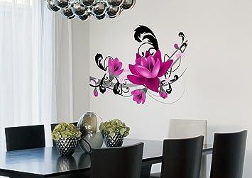 Buy Decals Design Big Purple Flowers Arrangement Wall Sticker