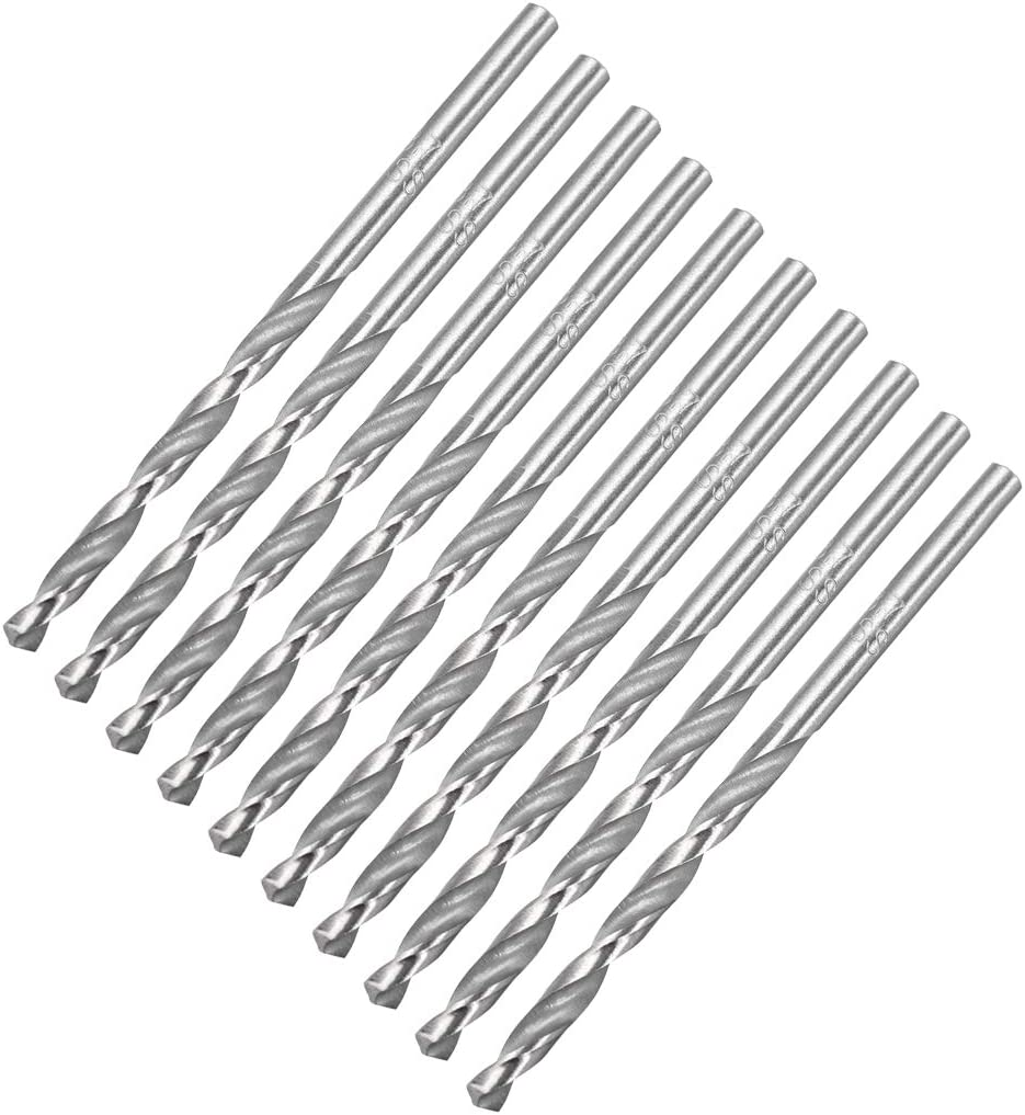 uxcell 3.7mm Twist Drill High Speed Steel Bit HSS-4241 for Steel,Aluminum Alloy 10pcs