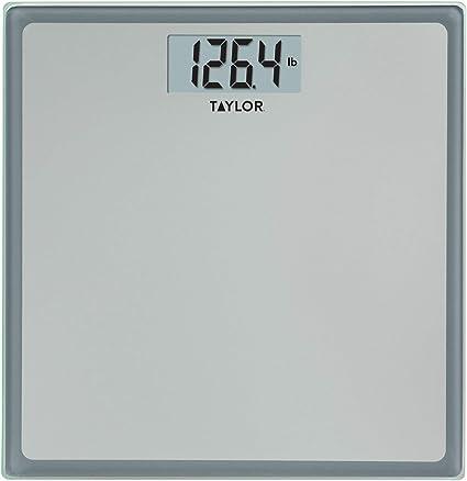 Amazon Com Taylor Precision Products Digital 400 Lb Capacity Bathroom Scale Grey With Blue Border Health Personal Care