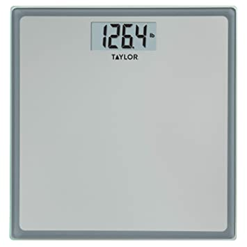 amazon com taylor precision products glass digital bath scale grey rh amazon com taylor bathroom scale battery size taylor bathroom scale battery size