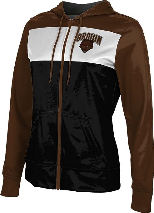 School Spirit Sweatshirt Brushed Brown University Girls Zipper Hoodie