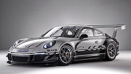 Amazon Com Porsche 911 Gt3 Cup Car Art Poster Print On 10 Mil