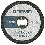 Dremel EZ476 1 1/2-Inch EZ Lock Rotary Tool Cut-Off Wheels For Plastic, 5 pack