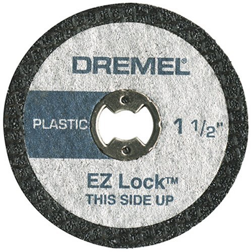 Plastic Dremel Cutting (Dremel EZ476 1 1/2-Inch EZ Lock Rotary Tool Cut-Off Wheels For Plastic - 5 pack)