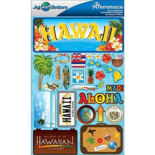 (Reminisce Jet Setters Dimensional Stickers-Hawaii by Reminisce)
