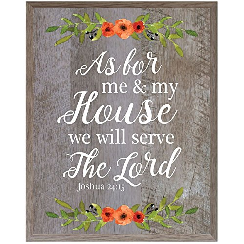 As For Me and My House we will serve the Lord wedding annivesary gift ideas for bride and groom couple 12 Inches Wide X 15 Inches High Wall Plaque By Dayspring Milestones (Barnwood)