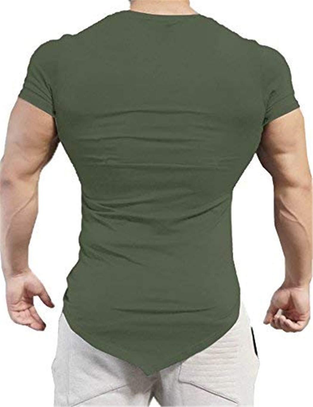 Sport T Shirts for Men Running Tops Training Tee Short Sleeve Sportswear Bodybuilding Muscle