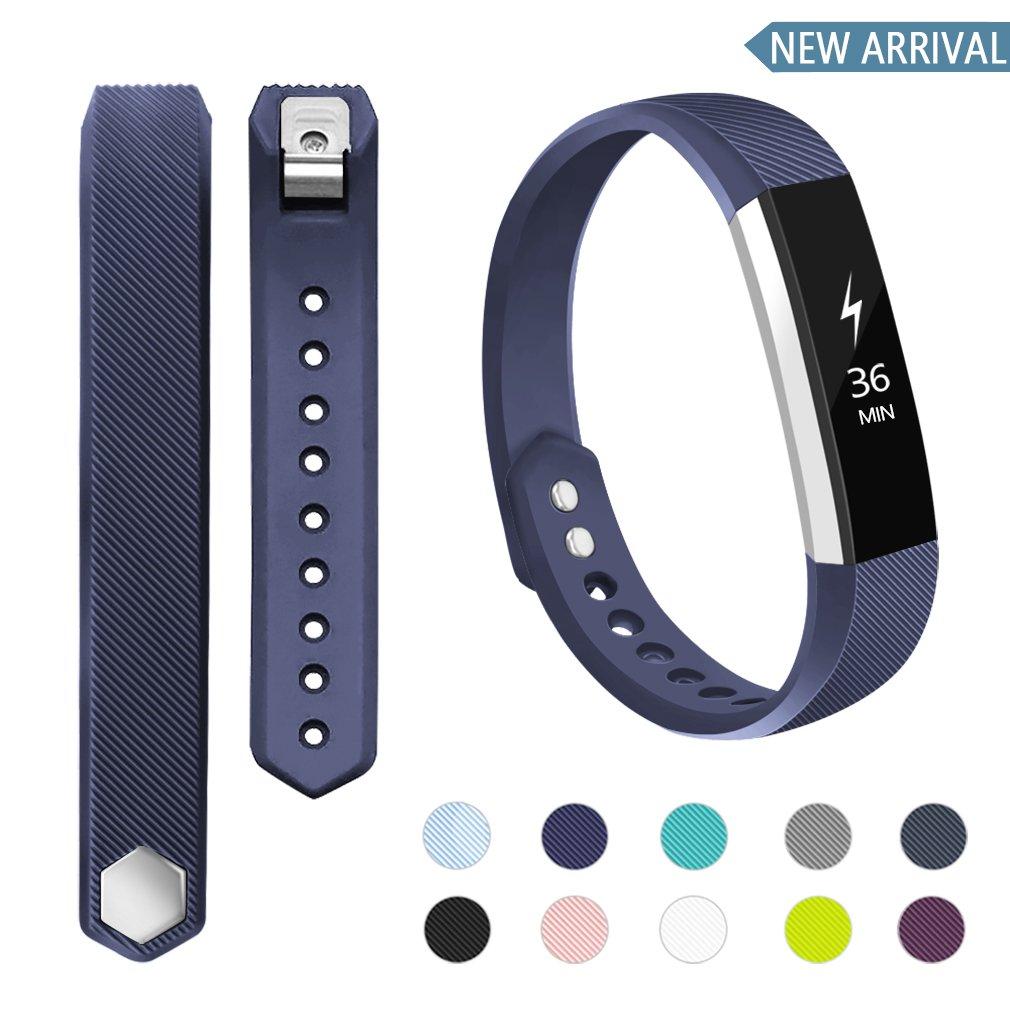 جایگزینی باند های سازگار POY برای Fitbit Alta / Fitbit Alta HR ، مچ بندهای قابل تنظیم ورزشی برای آقایان