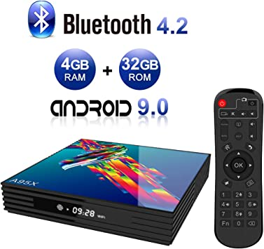 Android TV Box,A95X R3 Android 9.0 TV Box 4GB RAM/32GB ROM RK3318 Quad-Core Soporte 2.4Ghz/5.0Ghz WiFi 4K HDMI BT4.2 DLNA 3D Smart TV Box: Amazon.es: Electrónica