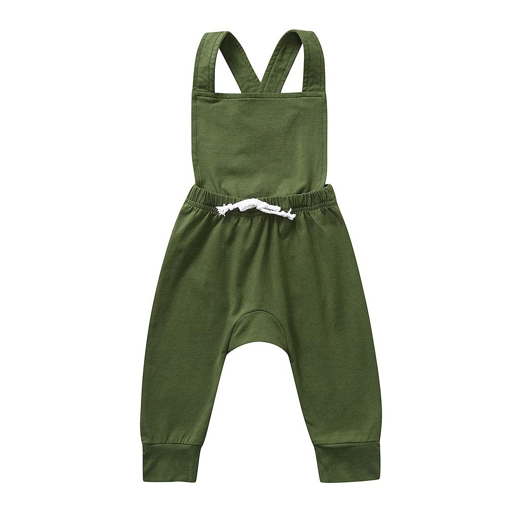 UNICLEE Newborn Infant Baby Girl Multicolor Toddler Kids Harness Jumpsuit Straps Jumpsuit 2-3 Years, Gray