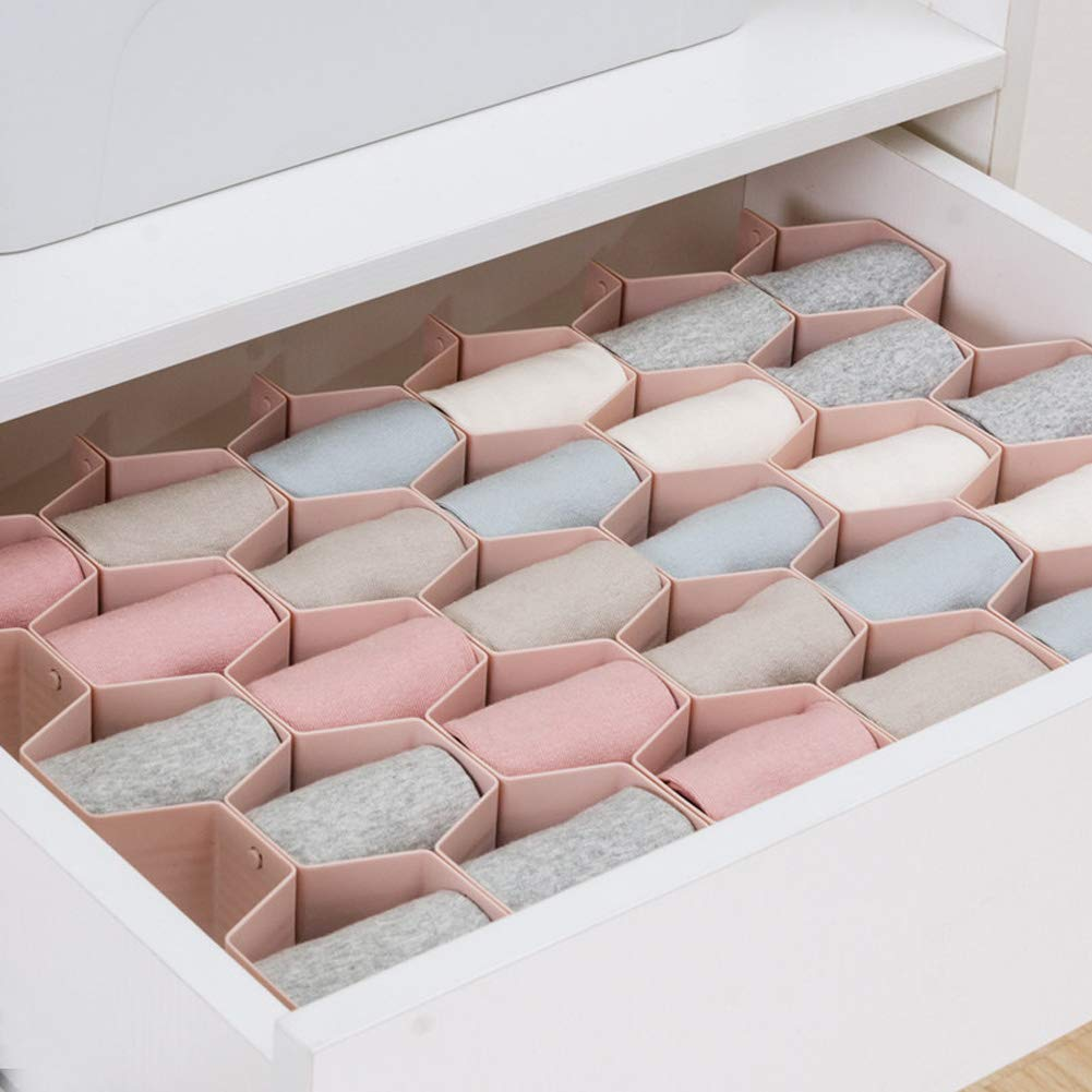 Amazon.com: cyclamen9 Honeycomb Drawer Organizers Dividers ...