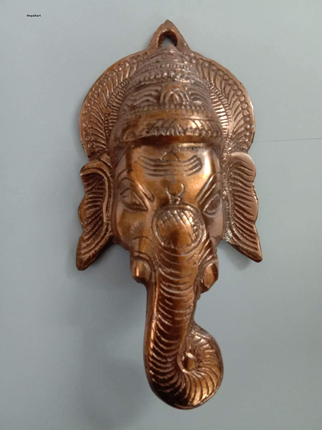 Lord Ganesh Wall Hanging decor- Ganpati in Sitting Pose -Metal Wall Showpiece for Wall Decor, Room Decor, Home Decor and Gifts diwali gift