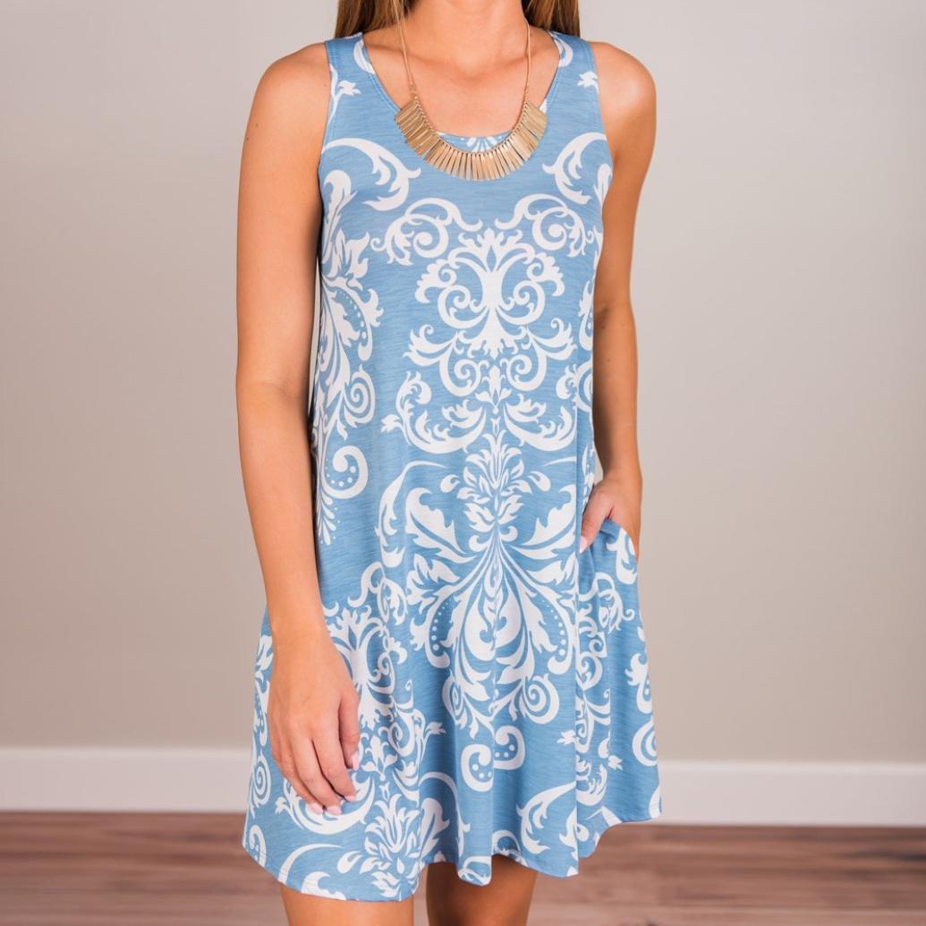 ❤ Vestido Vintage para Mujer Boho, Vestido de Fiesta de Verano Beach Boho Maxi Evening Party Beach Absolute: Amazon.es: Ropa y accesorios
