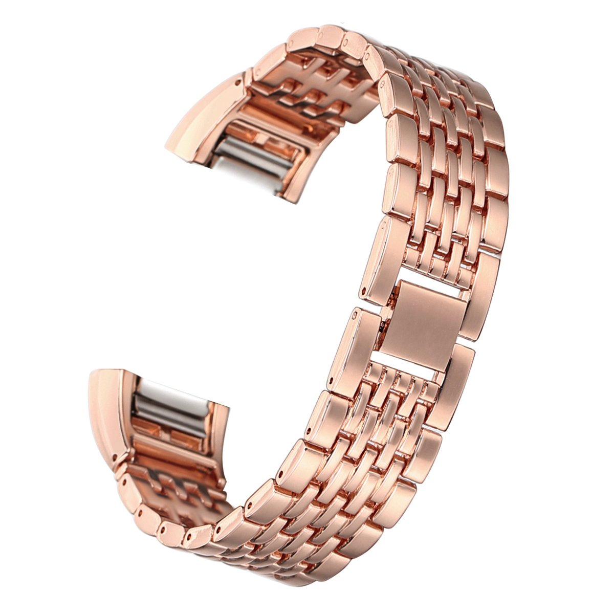 bayite Metal Bands Compatible Fitbit Charge 2, Replacement Accessories Bracelet, Rose Gold