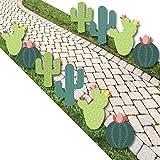 Prickly Cactus Party - Cactus Lawn Decorations - Outdoor Fiesta Party Yard Decorations - 10 Piece