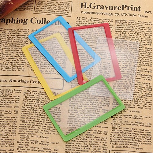 Hood Filter Pack (Full Page PVC Fresnel Lens Magnifier Loupe Sheet Card For Reading DIY 85X54mm ( 3 of pack , random)