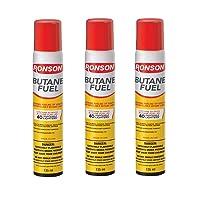 Ronson Multi-Fill Ultra Butane Fuel, 2.75 Ounces, Pack of 3