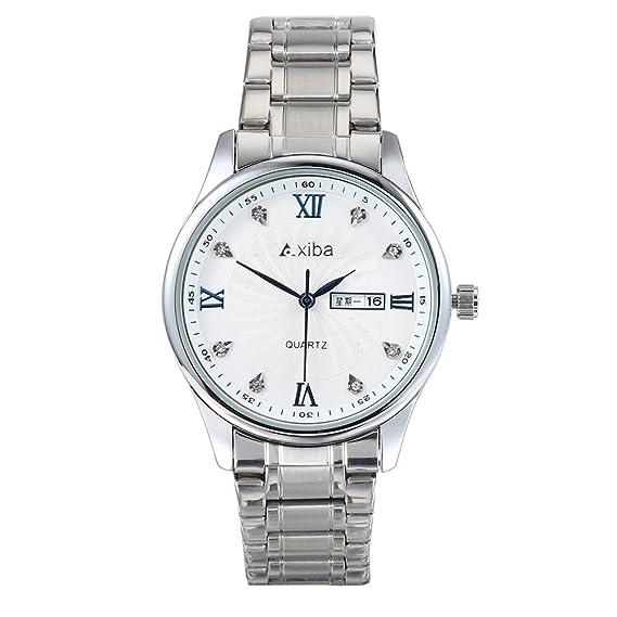 Nuevo listado para la venta! Reloj de cuarzo para hombre con correa de acero inoxidable