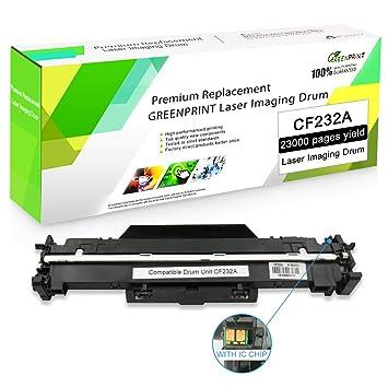 Unidad de Tambor Compatible CF232A 32A con Chip GREENPRINT 23000 ...
