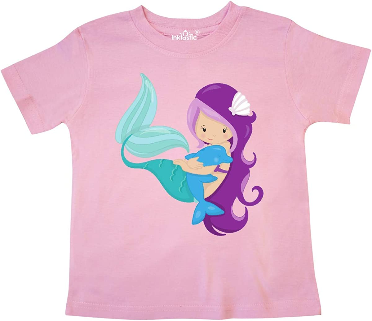 Mermaid with Purple Hair Toddler T-Shirt inktastic Mermaid and Dolphin