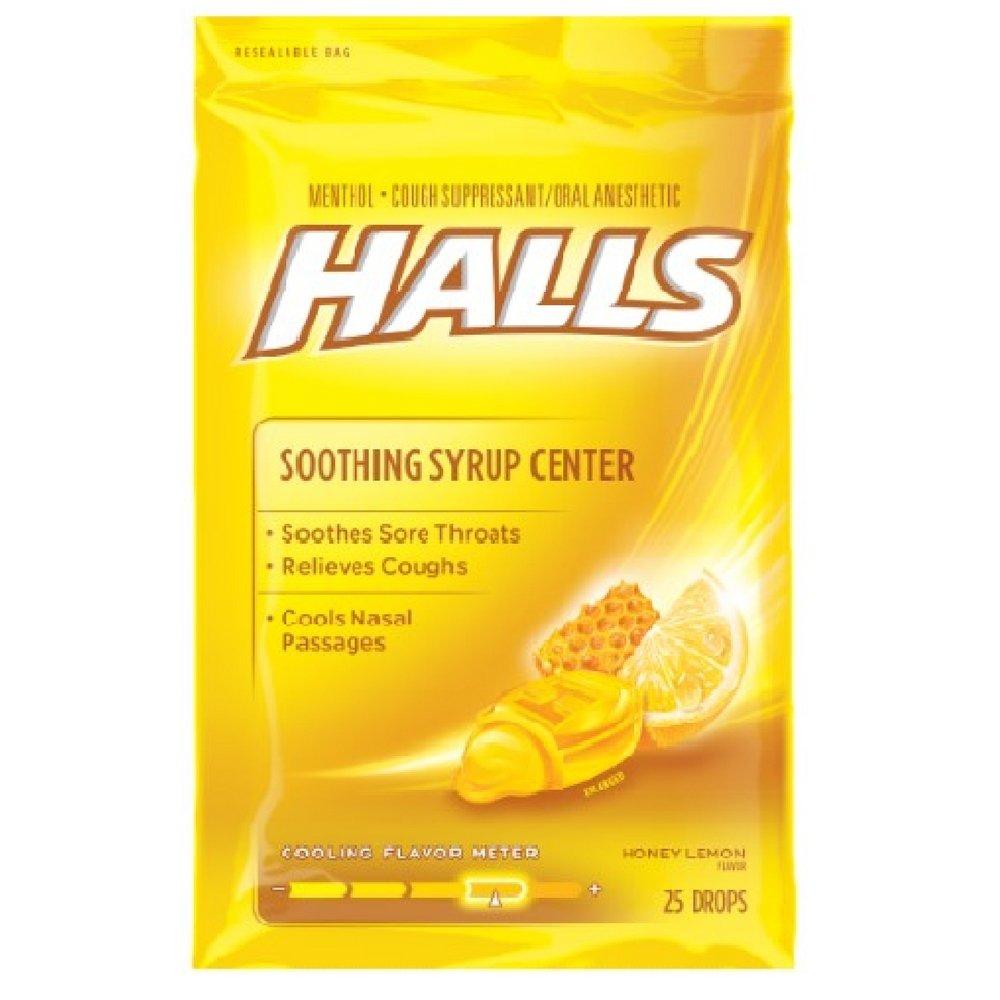 Halls Plus Drops Honey-Lemon 25 Each (Pack of 48)