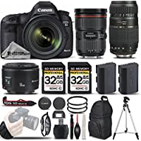 Canon EOS 5D Mark III DSLR 22.3MP Full HD 1080p + Canon 24-70mm f/2.8L II USM Lens + Canon 50mm 1.8 II Lens + 70-300mm Lens+ Backup Battery. All Original Accessories Included - International Version