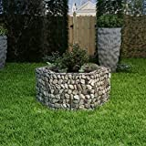 Festnight Galvanised Planter Hexagonal Gabion Planter Garden Cage Basket 100x90x50 cm