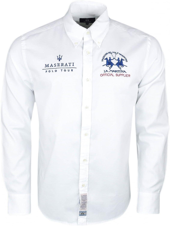 La Martina - Camisa casual - Blusa - para hombre blanco X-Large: Amazon.es: Ropa y accesorios