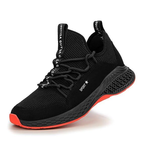 meilleur site web 13ba0 4e8ee AIXSHOE Chaussures de Sécurité pour Homme Femme, S1P Basket ...