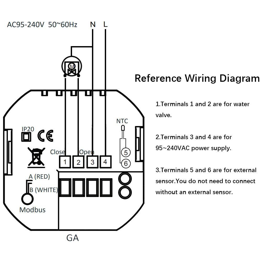 16A Pantalla t/áctil LCD Calentador de agua caldera Term/óstato inteligente de control de programaci/ón con conexi/ón WIFI BECA 6000 Series 3 electricidad Calentamiento de caldera, Negro