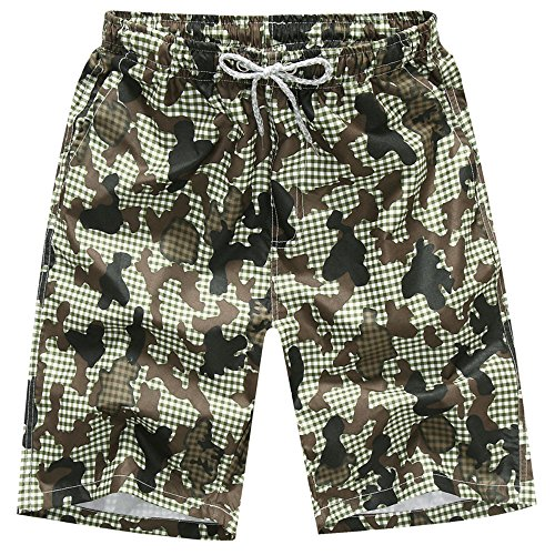 FarJing Clearance sale Mens Shorts Swim Trunks Quick Dry Beach Surfing Running Swimming Water Pants (Camouflage Trunk)