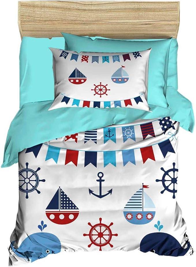 Nautical Crib Sheet Custom Crib Sheet Anchor Crib Sheet Toddler Sheet Ready to Ship Custom Crib Sheet Fitted Crib Sheet