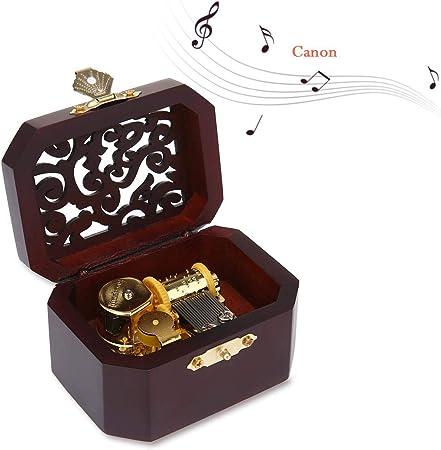 AOLVO Harry Potter Caja de música, Hecha a Mano, Caja de música de Madera grabada (Castillo en el Cielo) Caja Musical cumpleaños/día de San Valentín: Amazon.es: Hogar