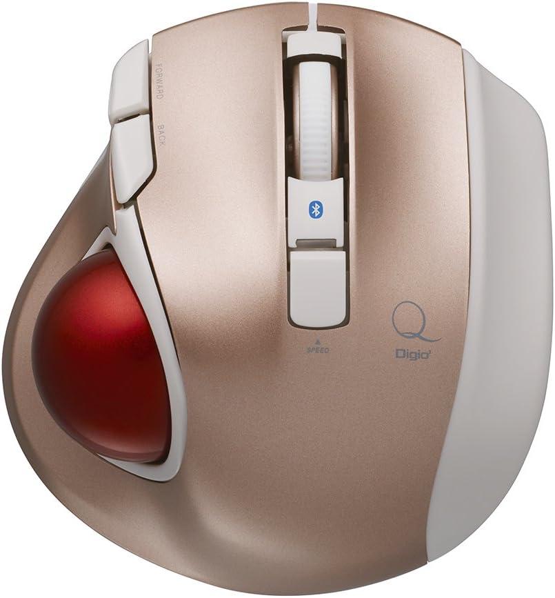 Digio2 トラックボールマウス 小型 Bluetooth 5ボタン ピンク Z8375