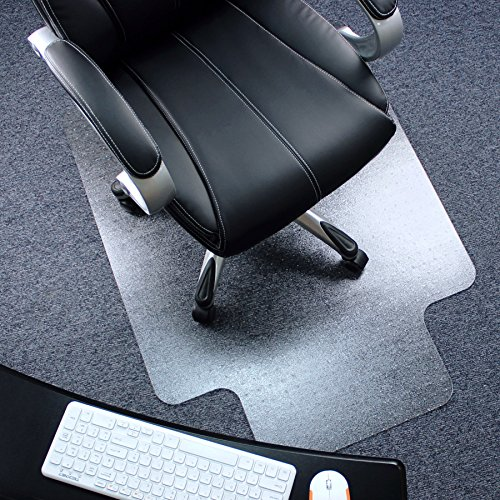 "Marvelux 36"" x 48"" Polycarbonate (PC) Lipped Chair Mat for Low, Standard and Medium Pile Carpets 