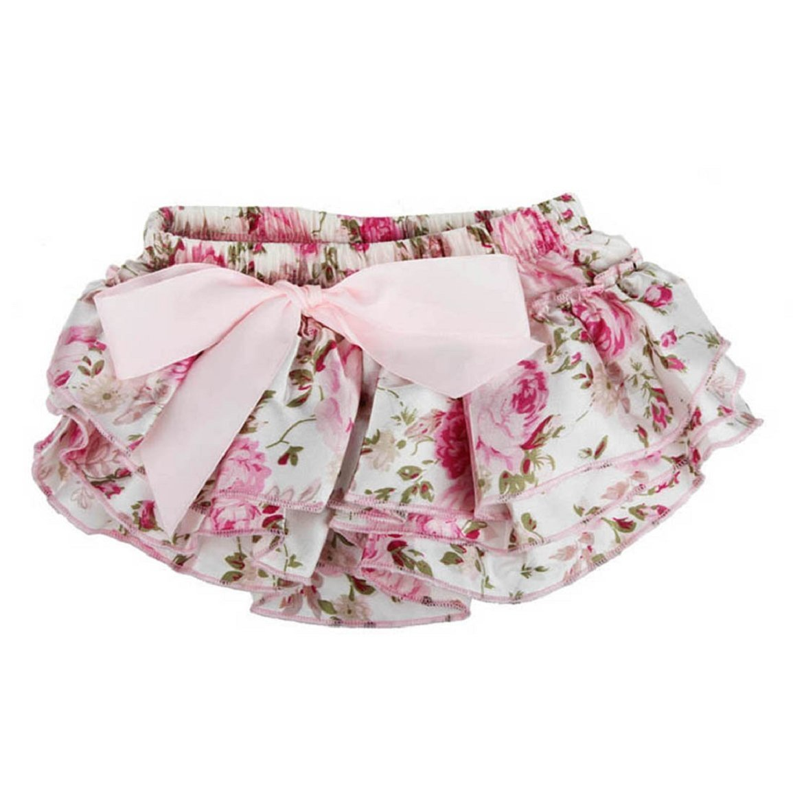 Culater®Baby Ruffle Bloomer Layers Flower Toddler Satin Pants Briefs Culater®-04002