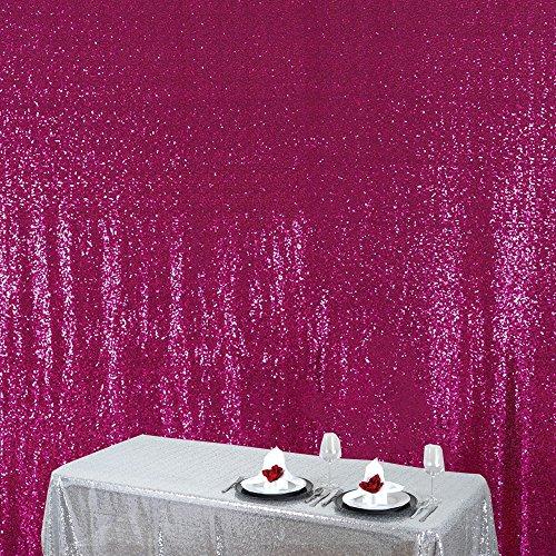 Zdada Fuchsia Cupcake Themed Birthday Party Background Sequin Backdrop-4ftx6.5ft ()
