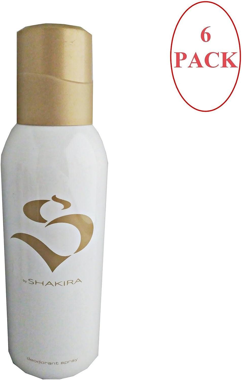S By Shakira Desodorante Spray Mujer 150 ml. Pack of 6: Amazon.es ...