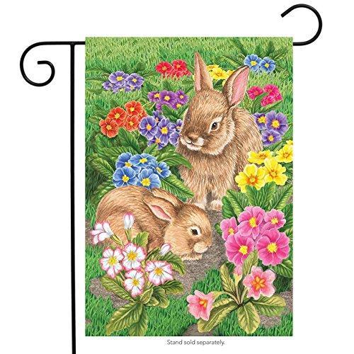 - Briarwood Lane Bunny Friends Easter Garden Flag Spring Floral Bunnies 12.5