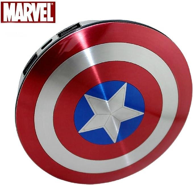 Marvel Escudo de Capitán América 6800mAh Externo Pack De Batería ...