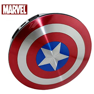 3ff2fc47e317a8 Marvel® Shield of Captain America 6800mAh External Battery Pack Power Bank